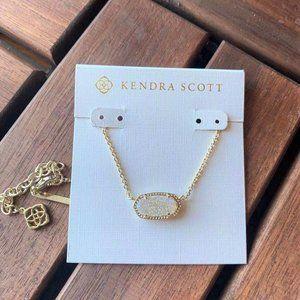 Kendra Scott Elisa iridescent drusy gold necklace